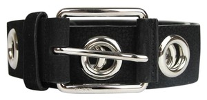 Gucci New Gucci Womens Black Leather Belt with Open Studs 100/40 370541 1000