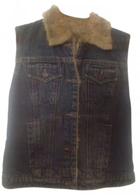 Preload https://item3.tradesy.com/images/gap-denim-vintage-with-faux-shearling-vest-size-2-xs-180837-0-0.jpg?width=400&height=650
