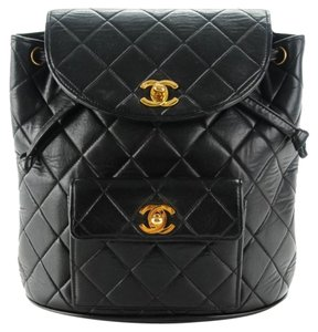 Chanel Quilted Kim Kardashian Vintage Backpack