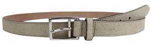Gucci New Gucci Men's Suede Leather Belt Silver Buckle 115/46 368193 1523