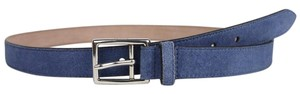 Gucci New Gucci Men's Suede Leather Belt Silver Buckle 110/44 368193 4239