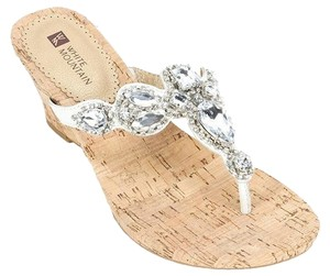 White Mountain Wedding Jewel Gemstone White Wedges