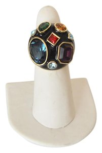 "Heidi Daus Heidi Daus ""Beaded Beauty"" Crystal and Enamel Ring Size 9"
