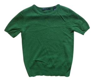 Lord & Taylor Cashmere Top Green