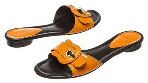 Fendi Orange/Black Sandals