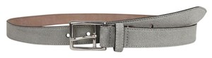 Gucci New Gucci Men's Suede Leather Belt Silver Buckle 100/40 368193 1417