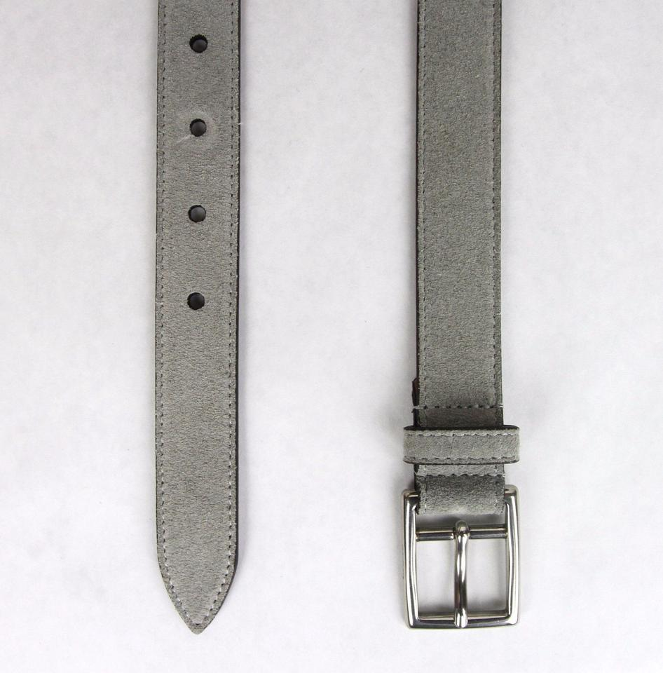 bce99259a25 Gucci New Gucci Men s Suede Leather Belt Silver Buckle 100 40 368193 1417  Image 4. 12345