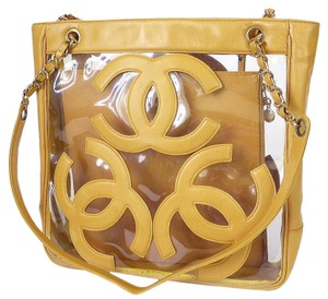 Chanel Summer Shopping Gst Tote in Yellow