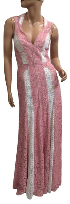 Item - Light Shell Pink Lace Gown Long Cocktail Dress Size 6 (S)