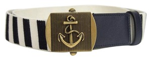 Gucci New Gucci Fabric Belt Anchor Brass Buckle 80/32 375191 4056