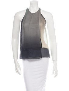 Helmut Lang Top Sheer Grey Multicolor