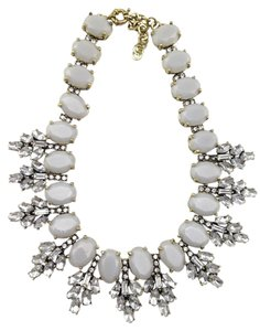 NWOT NWOT Gray & Crystal Leaves Statement Necklace