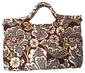 Vera Bradley Satchel in Blue, Brown, Yellow Print