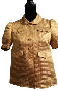 Chlo Vintage? See By Chloe Acetate Button Down Shirt Marigold