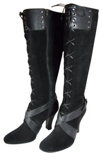 Cole Haan Laces Knee-high black Boots