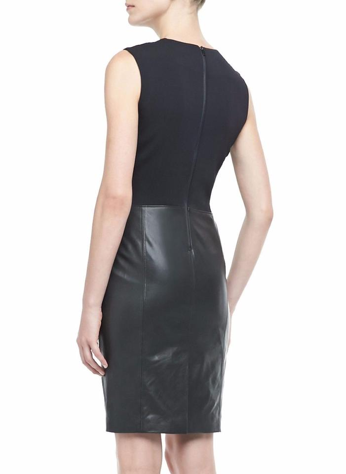 Dress Combo Vince Night Leather Out Black Sheath Sleeveless 4qqx0wSEr