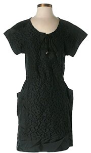Sea New York short dress Black Textured Shift on Tradesy