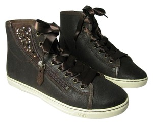 UGG Australia Blaney Brown Crystal Sneakers Dark Chestnut Athletic