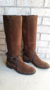 Aquatalia by Marvin K. Riding Belted Knee-high brown Boots