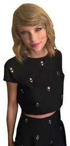 Elizabeth and James Embellished Relaxed Boxy Crop Top
