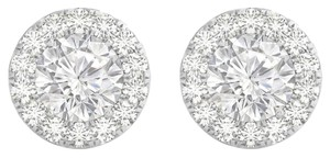 Fine Jewelry Vault Cubic Zirconia 14K White Gold Earrings