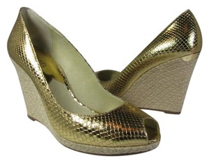 Michael Kors Espadrille Wedge metallic gold Wedges
