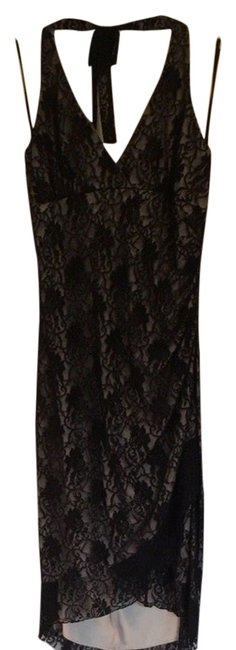 Item - Black with Nude Lining Cocktail Dress Size 12 (L)