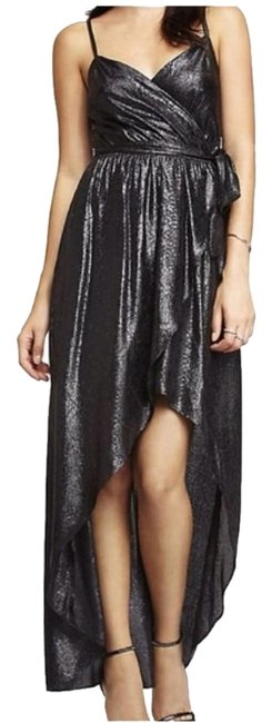 Zara Black Shimmering Maxi Long Night Out Dress Size 6 (S) Zara Black Shimmering Maxi Long Night Out Dress Size 6 (S) Image 1