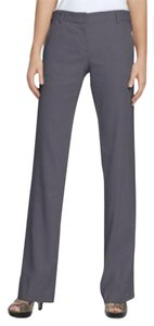 Theory Linen Leg Trousers Straight Pants Gray