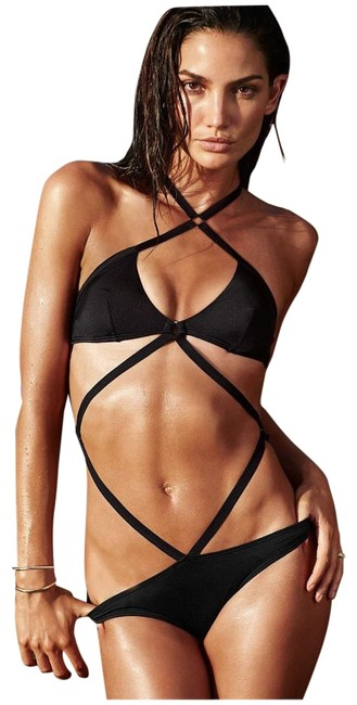 Item - Black Very Sexy Strappy Monokini One-piece Bathing Suit Size 2 (XS)