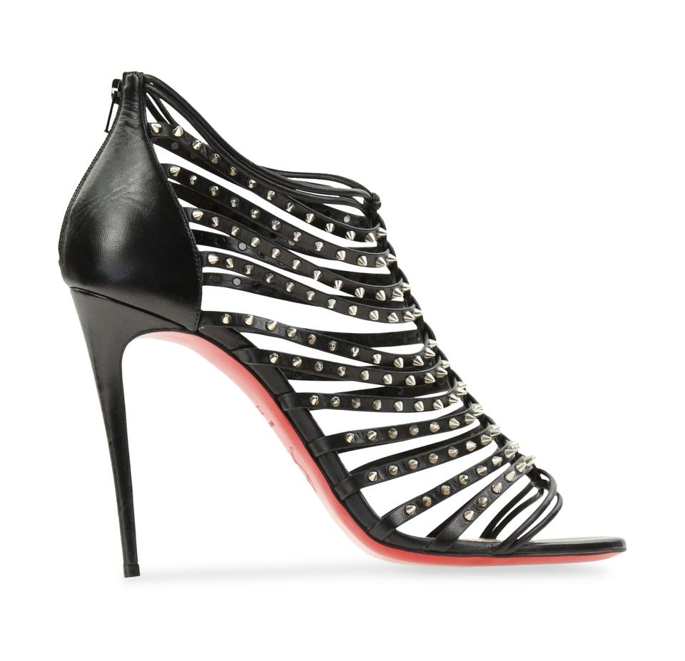 brand new 6e32d 5a572 Christian Louboutin Black Millaclou Strappy Studded Pumps Size EU 39.5  (Approx. US 9.5) Regular (M, B) 70% off retail