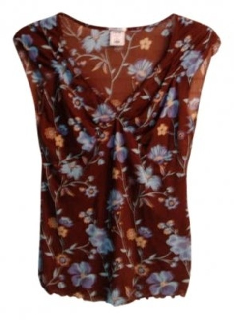 Preload https://item4.tradesy.com/images/old-navy-brown-floral-blouse-size-12-l-180873-0-0.jpg?width=400&height=650