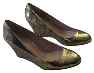 Vince Camuto Enchanted Gold Wedges