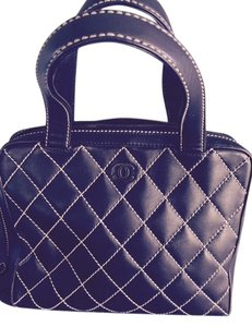 Chanel Bowler Diamond Stitching Tote in Brown
