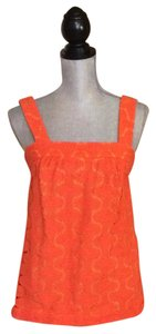 Trina Turk Crochet Top Orange
