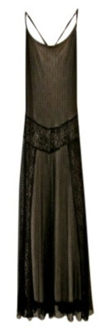 Preload https://img-static.tradesy.com/item/18089/black-with-nude-lining-drop-waist-sheer-stretch-long-cocktail-dress-size-6-s-0-0-650-650.jpg