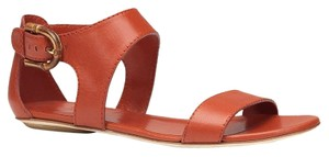 Gucci Nadege Leather Dark Orange 6415 Sandals