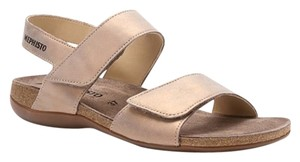 Mephisto Taupe Comfort Tan Sandals