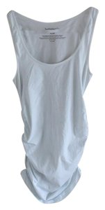 BeMaternity Stretchy white cinched tank top