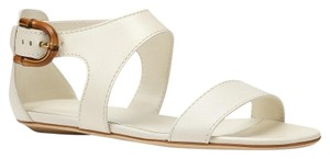 Gucci Nadege Leather W/stirrup Bamboo Buckle Off white/9110 Sandals