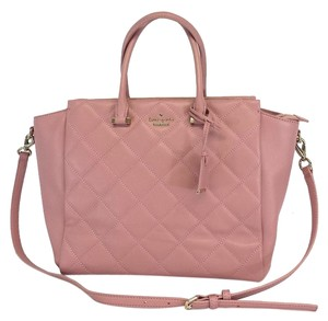 Kate Spade Mauve Quilted Leather Tote