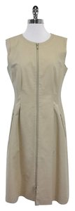 Lafayette 148 New York short dress Khaki Cotton Zip Up on Tradesy