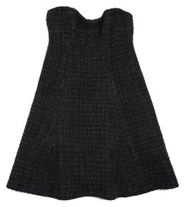 Nanette Lepore short dress Grey Wool Tweed Strapless on Tradesy