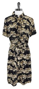 Thomas Pink short dress Black Tan Floral Shirt on Tradesy