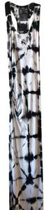 Black & White Tie-Dye Maxi Dress by Young Fabulous & Broke