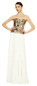 Marchesa Sequin Embellished Chiffon Gown Dress