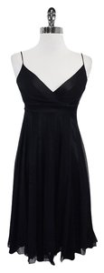 Diane von Furstenberg short dress Black Striped Silk on Tradesy
