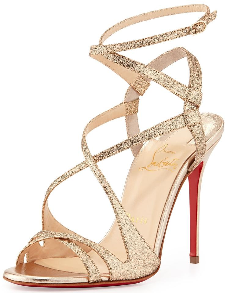 c036cfa1 ... Crisscross Strappy High Heel 7.5 37.5 Evening Party Gold, Poudre Sandals.  123456