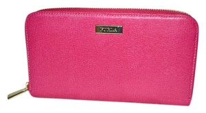Furla Furla Zip Around Saffiano Leather Continental Wallet Gloss Pink