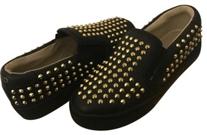 AKID Girl's Studded Liv Slip On Black Athletic
